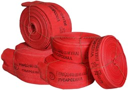 Рукав пожарный Русарсенал Латексированный 65 мм РПМ(Д)-65-1,6-ИМ-УХЛ1 в комплекте головки ГР-65А 20+-1 м
