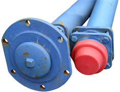 Гидрант пожарный подземный чугун синий ГИДРОПРОМ-СПБ Ру10 2250 мм