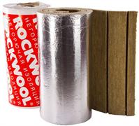 Рулон минеральная вата ROCKWOOL TEX MAT кашированный алюминиевой фольгой 50х1000-5