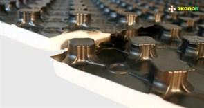 Плита для теплого пола ЭКОПОЛ 2102 (8,8м2) 1100х800х20
